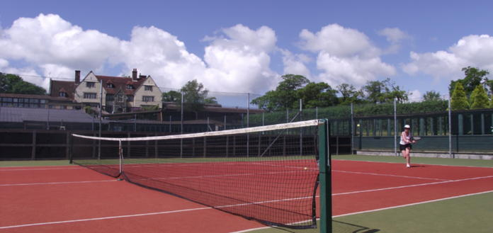 TENNIS ON 4 OUTDOOR COURTS